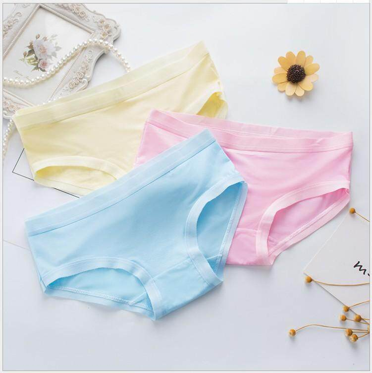 5 Pieces Women Bamboo Brief Panties Lace Thin Soft Material Underwear