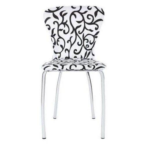 Spandex Stretch Washable Dining Chair Cover for Hotel Restaurant Weddings Banquet Folding Decoration (WHITE AND BLACK)