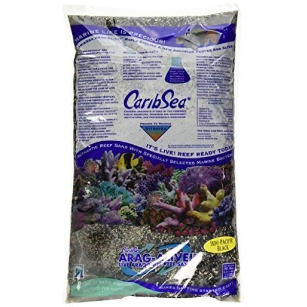 Carib Sea ACS00791 Arag Alive Indo Pacific Sand for Aquarium, 20-Pound, Black - intl