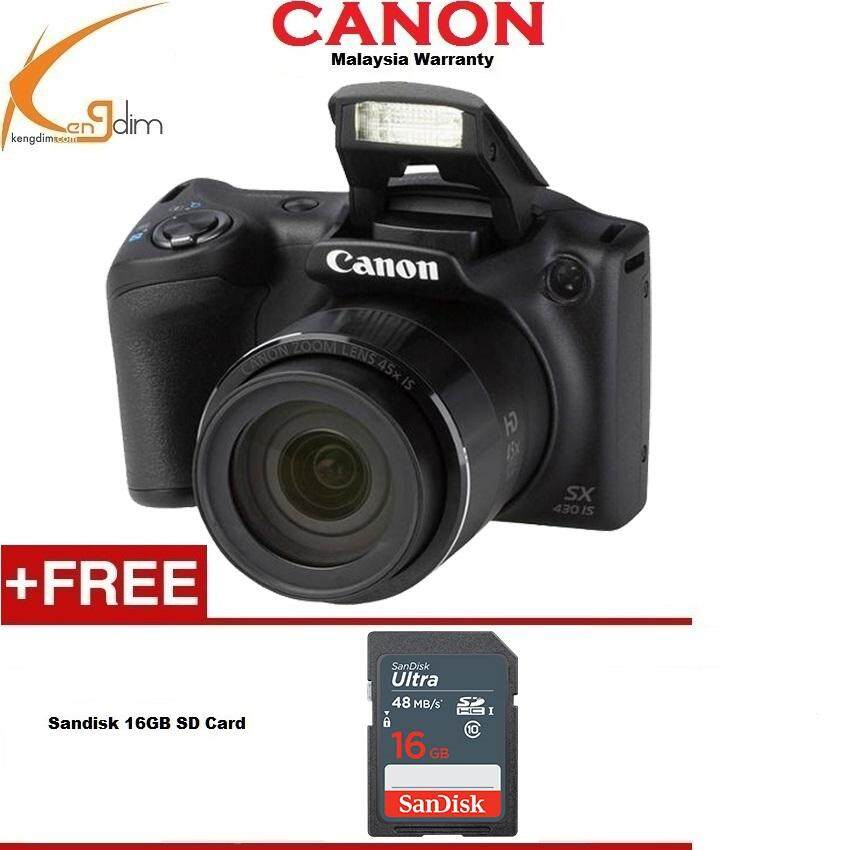 Canon PowerShot SX430 IS (Black) (Canon Malaysia Warranty)