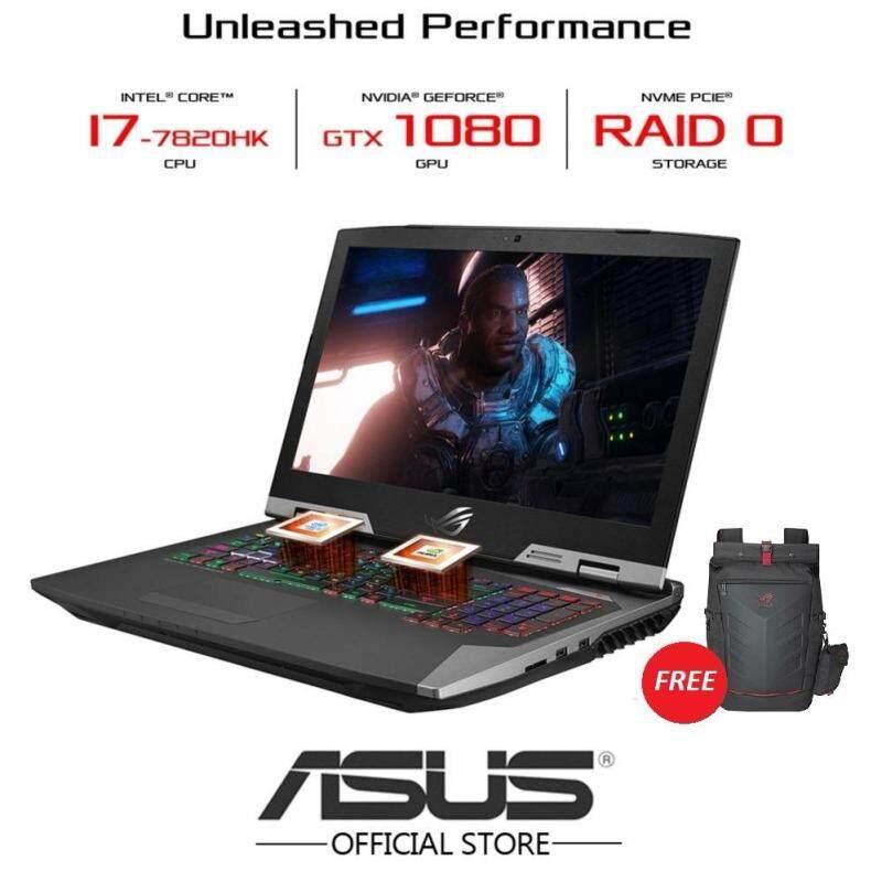 ASUS ROG G703V-IGB183T 17.3 FHD Gaming Laptop (i7-7820HK, 16GB*2, 1TB+512GB, GTX1080 8GB) - FREE ROG RANGER BACKPACK Malaysia