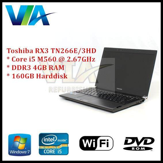 Refurb Toshiba Dynabook RX3 TN266E/3HD~Core i5~4Gb~160Gb HDD~Win10 Malaysia