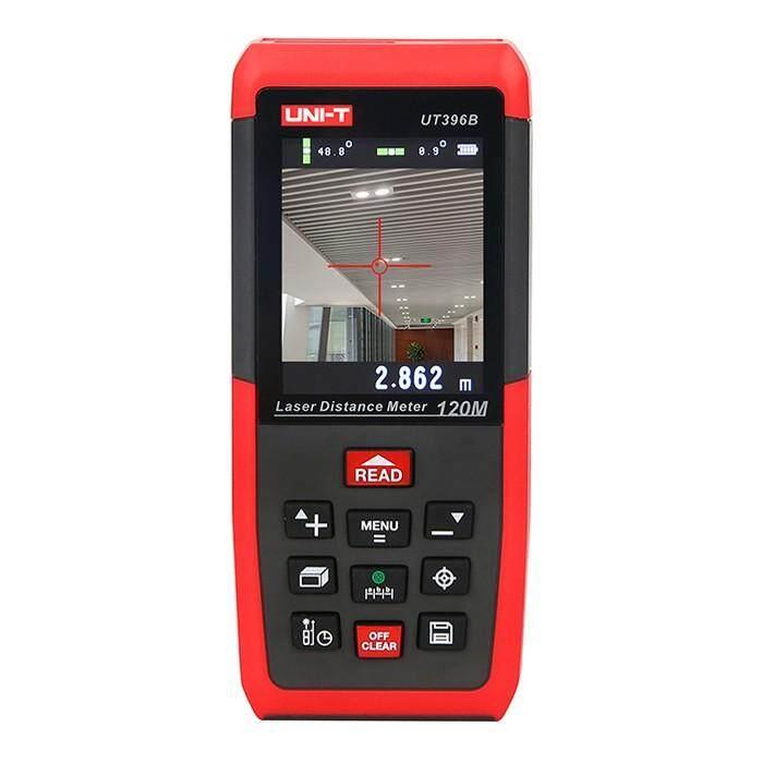 UNI-T UT396B Profesional Laser Jarak Meter Loft Uji Alat Perata Area/Volume Penyimpanan Data Max 120 M 2MP Kamera Merah-Intl