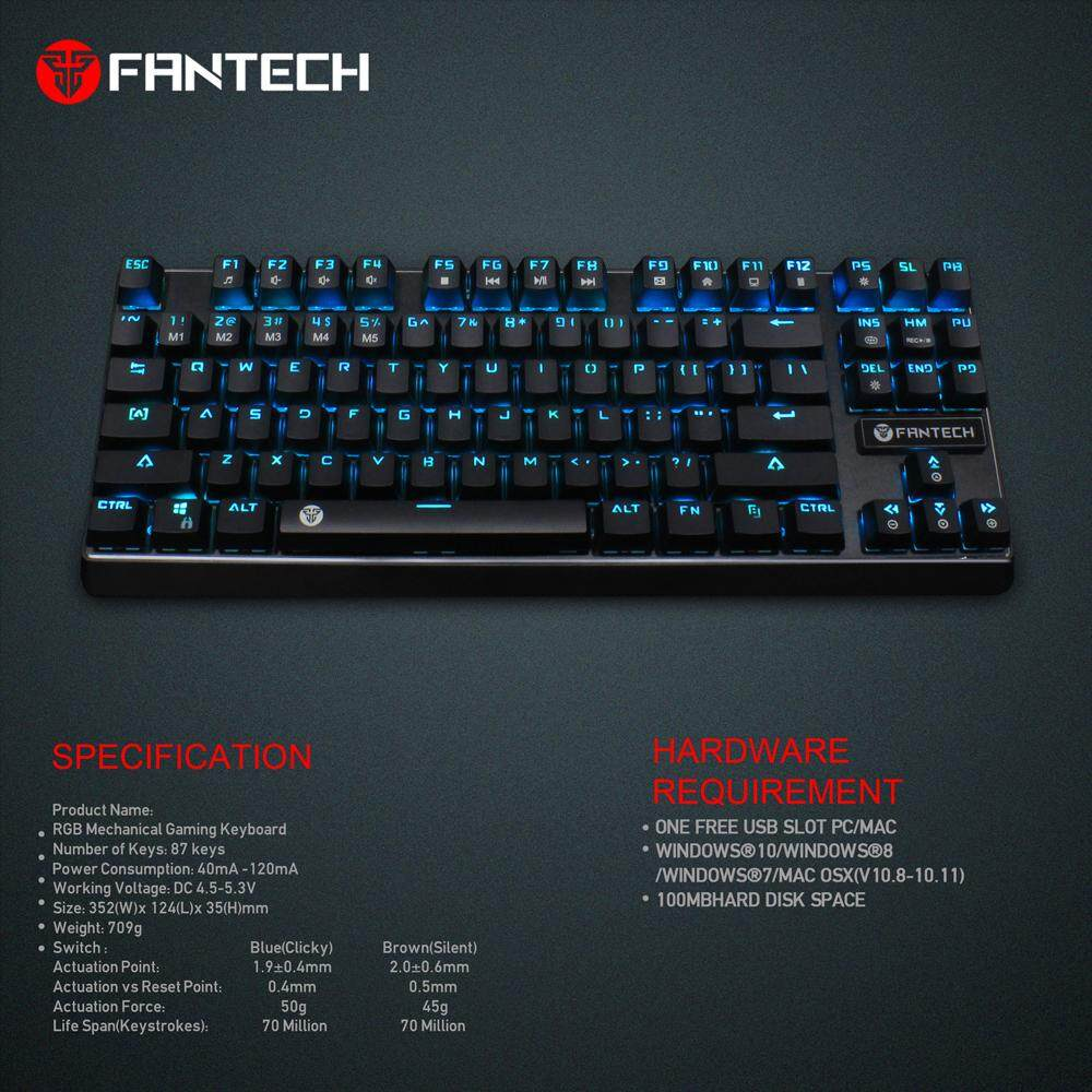 Corsair Strafe Rgb Gaming Mechanical Keyboard Brown Switch Hitam K70 Lux Red Specifications Of Fantech Mk871 Phantheon Tournament Edition Anti Ghosting With 10