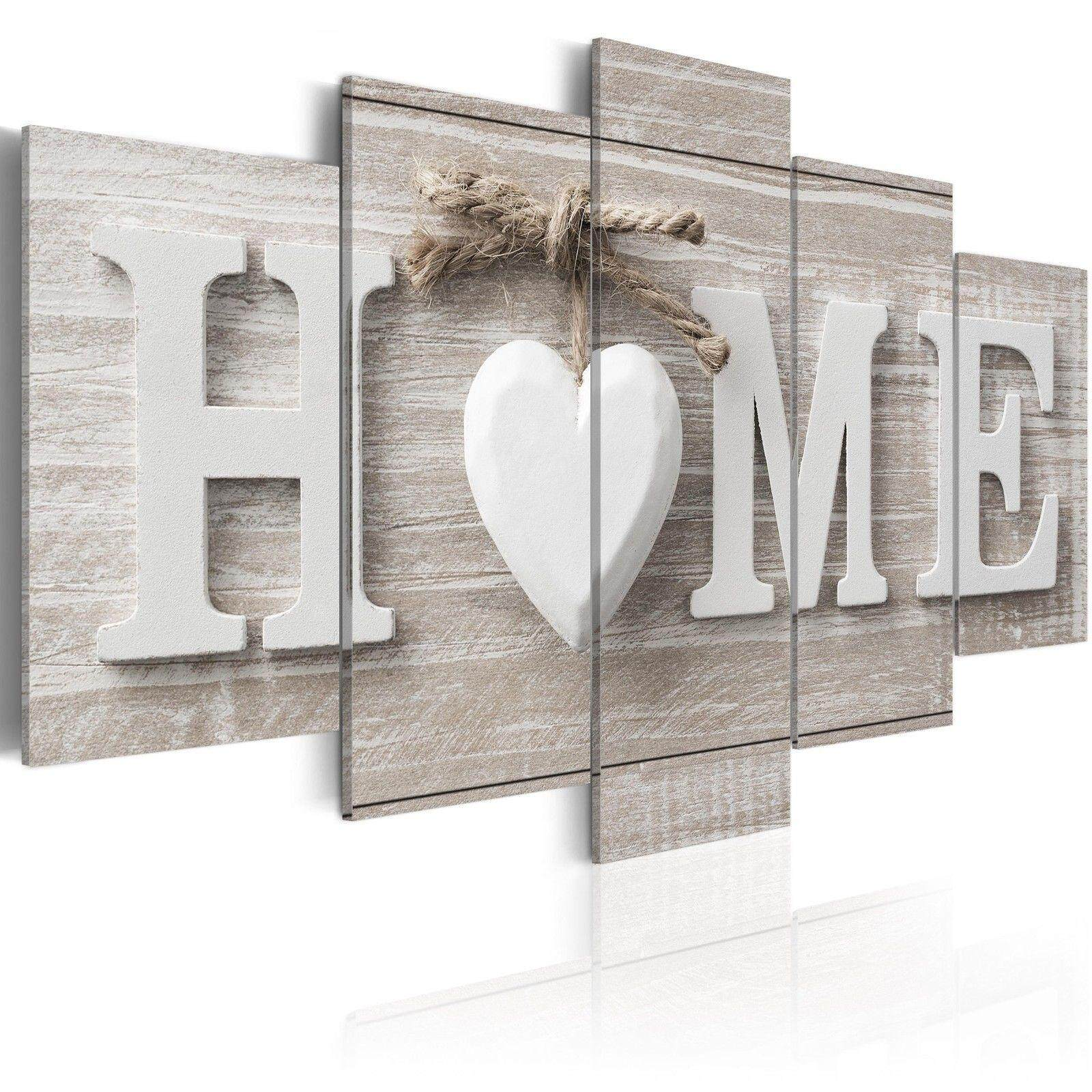 5 Panels Love HOME Warm Style Canvas Painting Print Pictures Wall Art Home Decor #frame