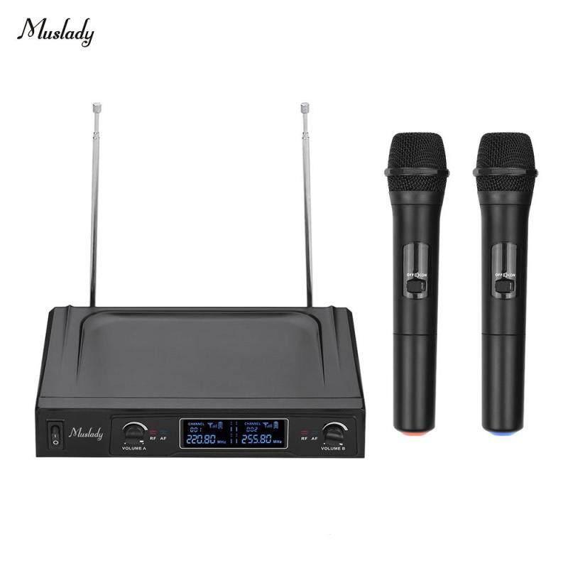 Hệ Thống Micro Không Dây Muslady V1 VHF 2 Mic & 1 Bộ Thu Với Màn Hình LCD Cho Karaoke Giải Trí Gia Đình Cuộc Họp Kinh Doanh Giảng Dạy Lớp Học