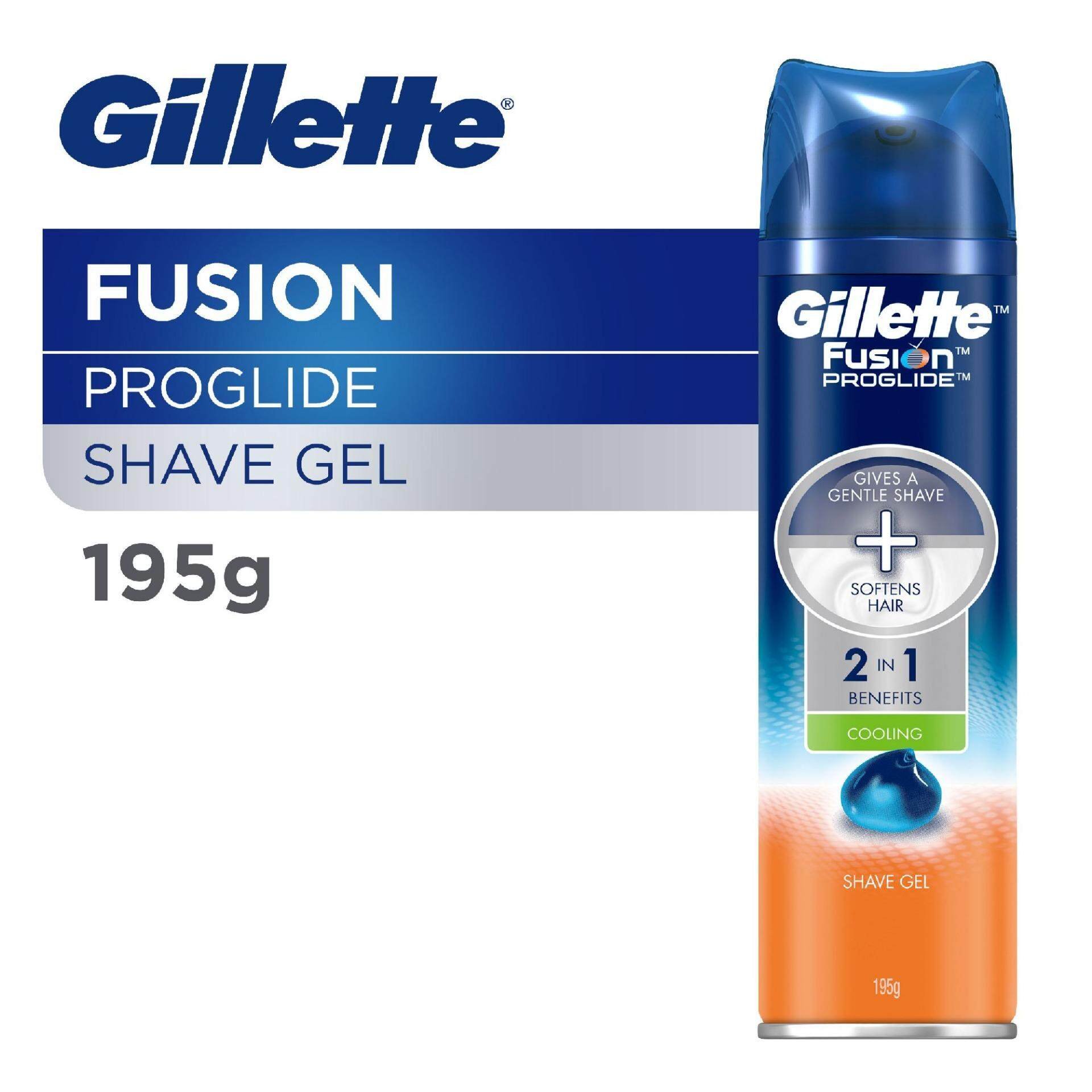 Gillette Men Fusion ProGlide Cooling Shave Gel 195g