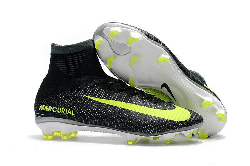 Baru Arrival Sepatu Sepak Bola Pria Superfly Sepak Bola Sepatu Tinggi Pergelangan Kesemek Berlian FG Asli Children Luar ruangan Latihan Bot Cleats Grosir-Internasional