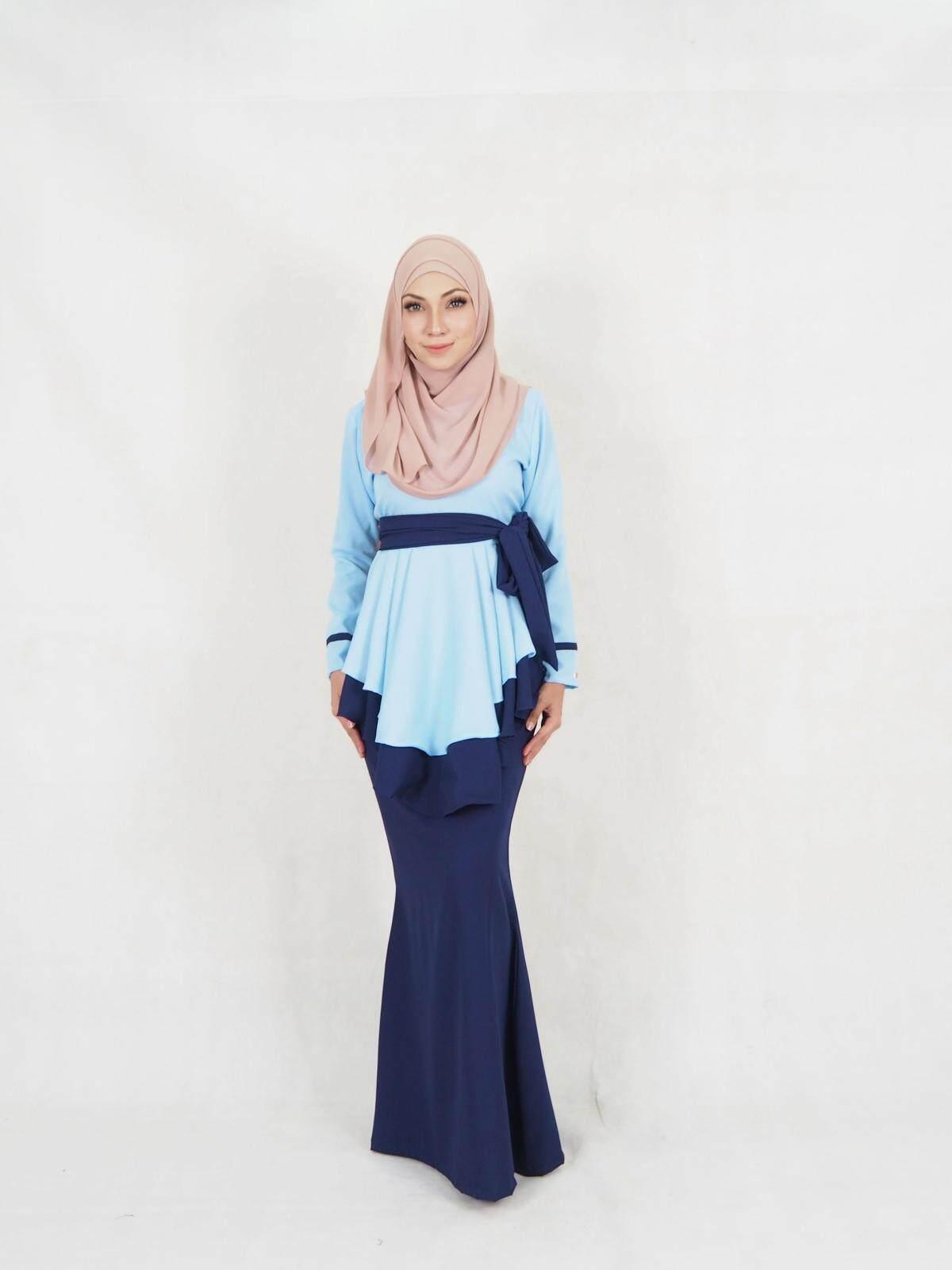 Faria Fara Ribbon Baju Kurung (Plus Size) (Breastfeed) / Muslim Women Fari Fara Baju Kurung / Muslimah Fashion Modern Ribbon Baju Kurung Breastfed (XXL-5XL)