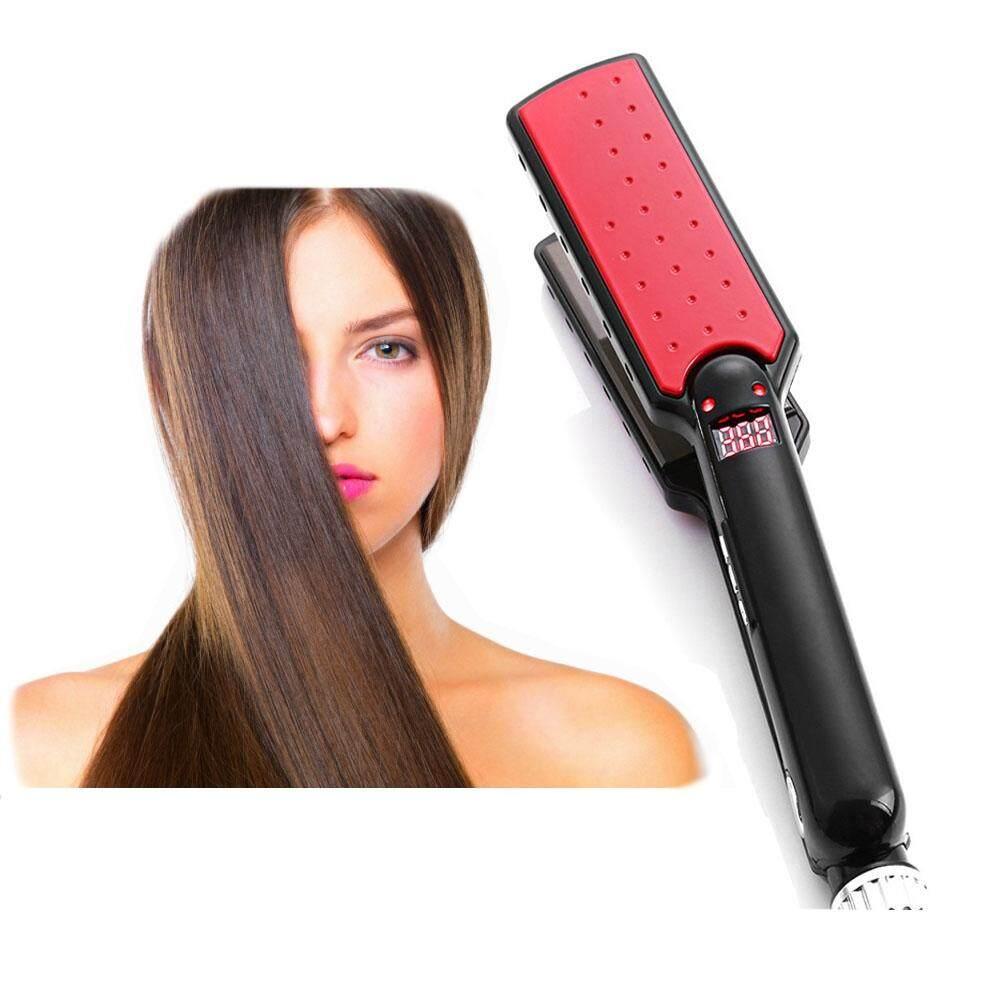 ULTRATHIN HAIR STRAIGHTENER 7 SHAPE TOURMALINE CERAMIC HEATING PLATE LED DISPLAY NEGATIVE ION CARE