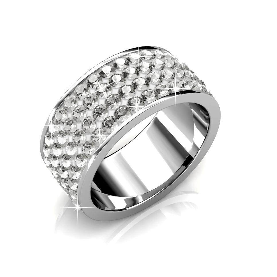 Ring Roller (White) Embellished with Crystals from Swarovski