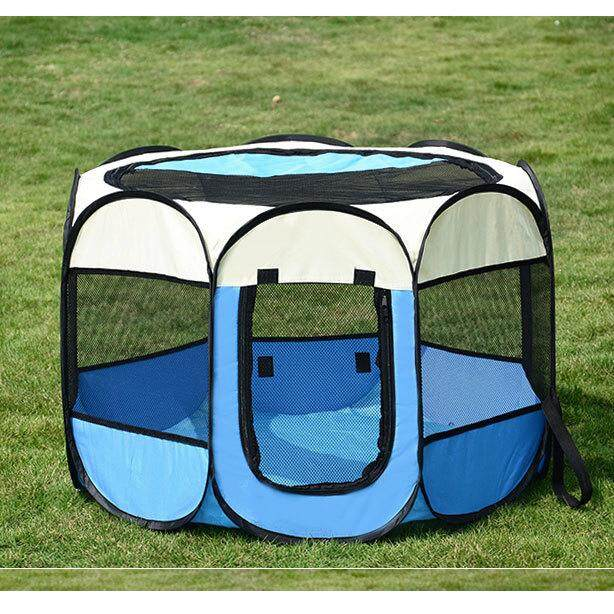 Compare Prices For Portable Pets Dog Bed Kennel Fence Playpens Puppy Exercise Training Crate Random Color Intl