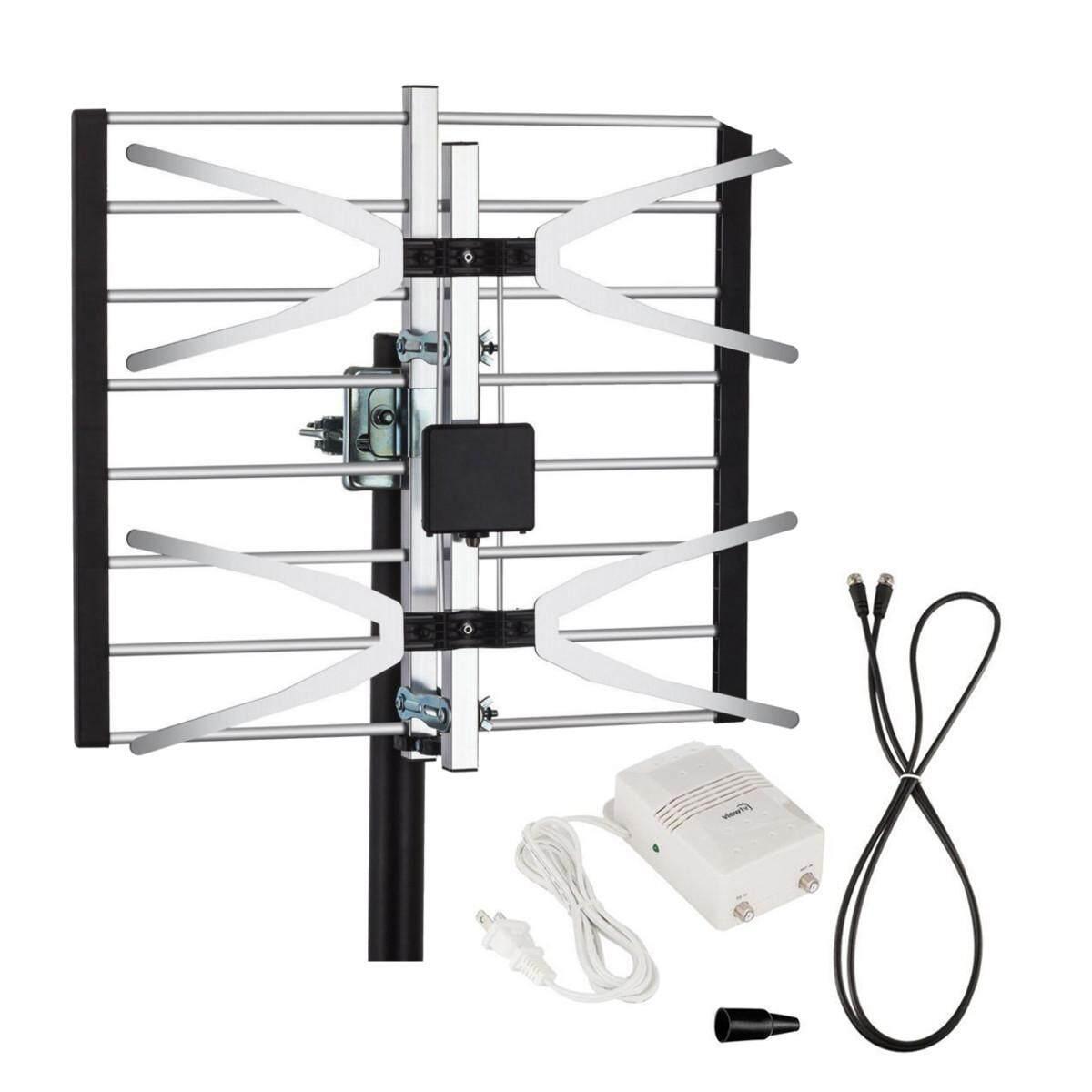 Tv Antenna Indoor Outdoor Amplified Hdtv Price In Singapore Digital Amplifier Attic Full 120 Miles Range Intl