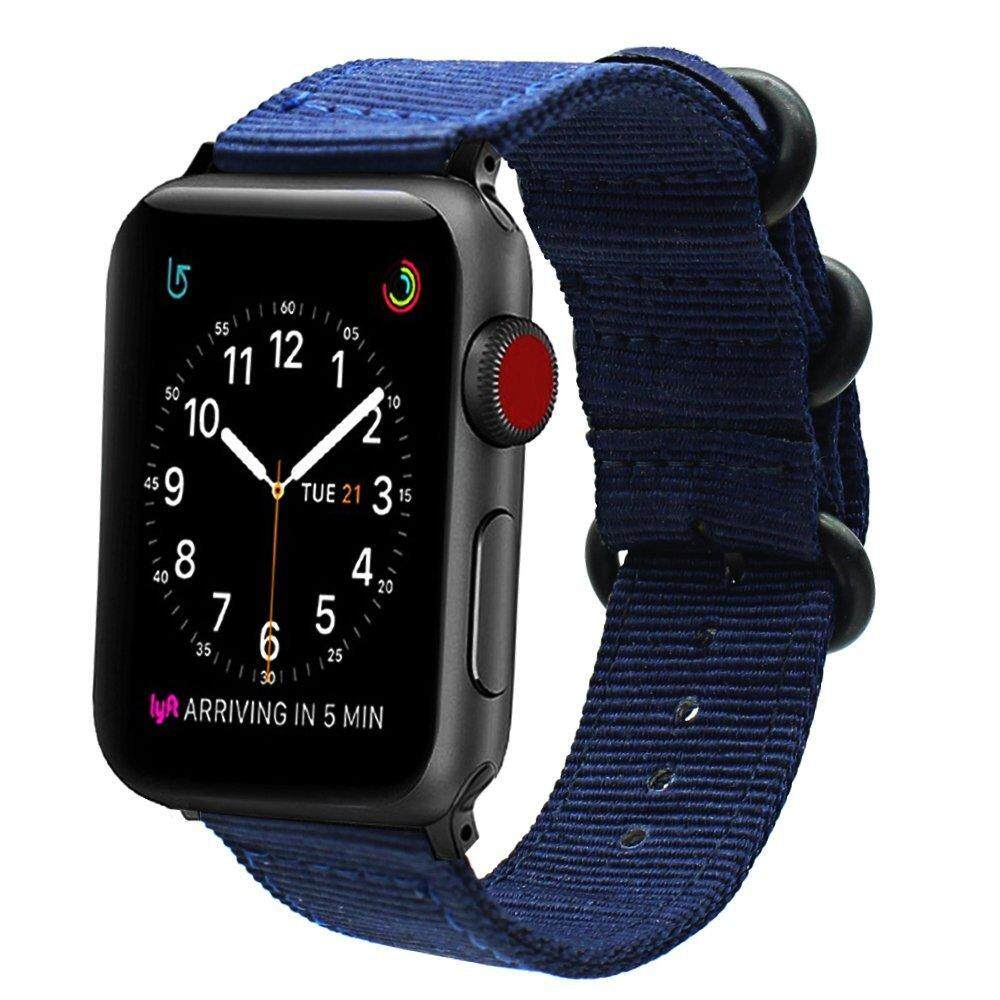 Latest Nylon Watchband For Iwatch Apple Watch 42Mm Series 3 2 1 Ballistic Band Nato Woven Canvas Strap Quick Release Adapters Intl