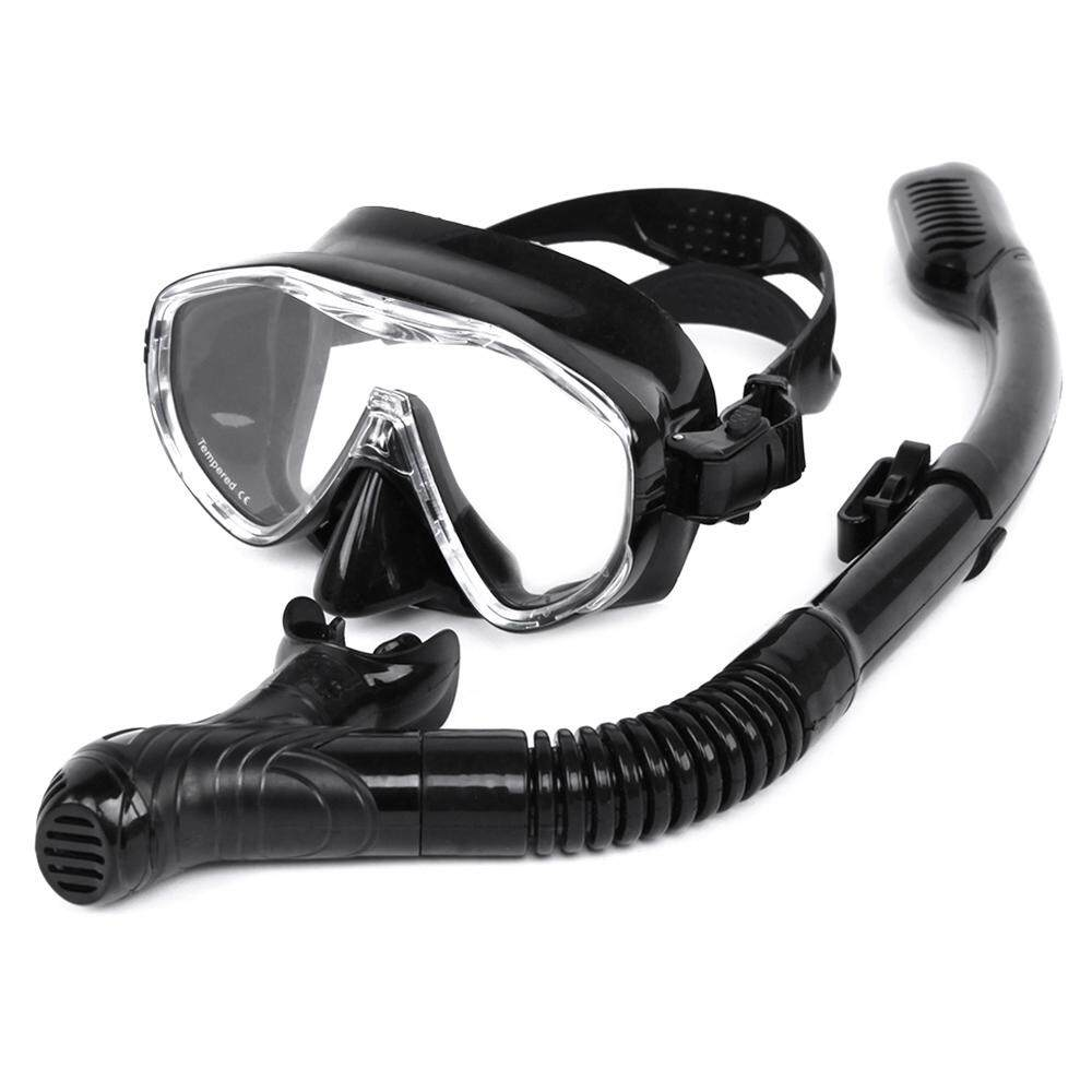 Gambar Produk Rinci Snorkeling Mask Snorkel Set Anti Fog Underwater Scuba Diving Silicone Tube Snorkel Mask Swimming Training Diving Mask - intl Terkini