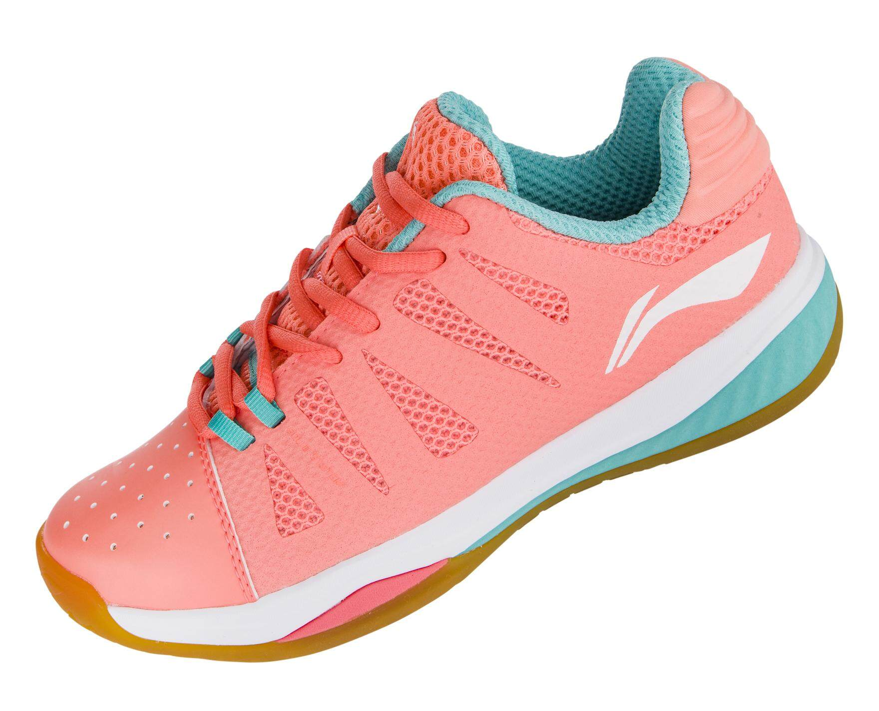 Li-Ning Dual Cloud Women's Badminton Shoes - Orange AYTN006-3