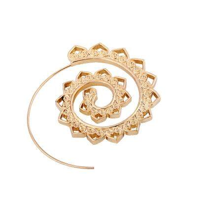 Vintage Round Spiral Circles Gear Stud Earrings (GOLDEN)