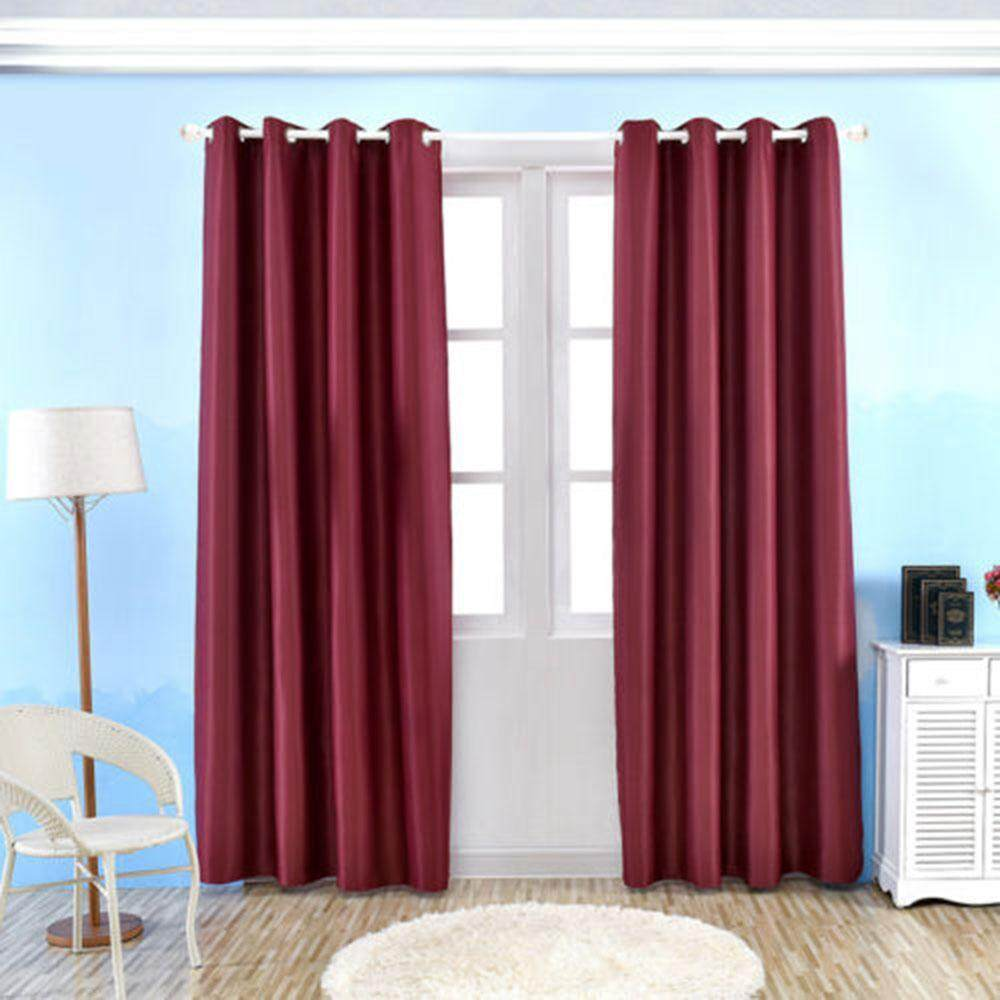 yazhang Window Curtains Solid Color Blackout Curtains Drape Panel For Living Room Bedroom Window Home Decor,100*250cm - intl