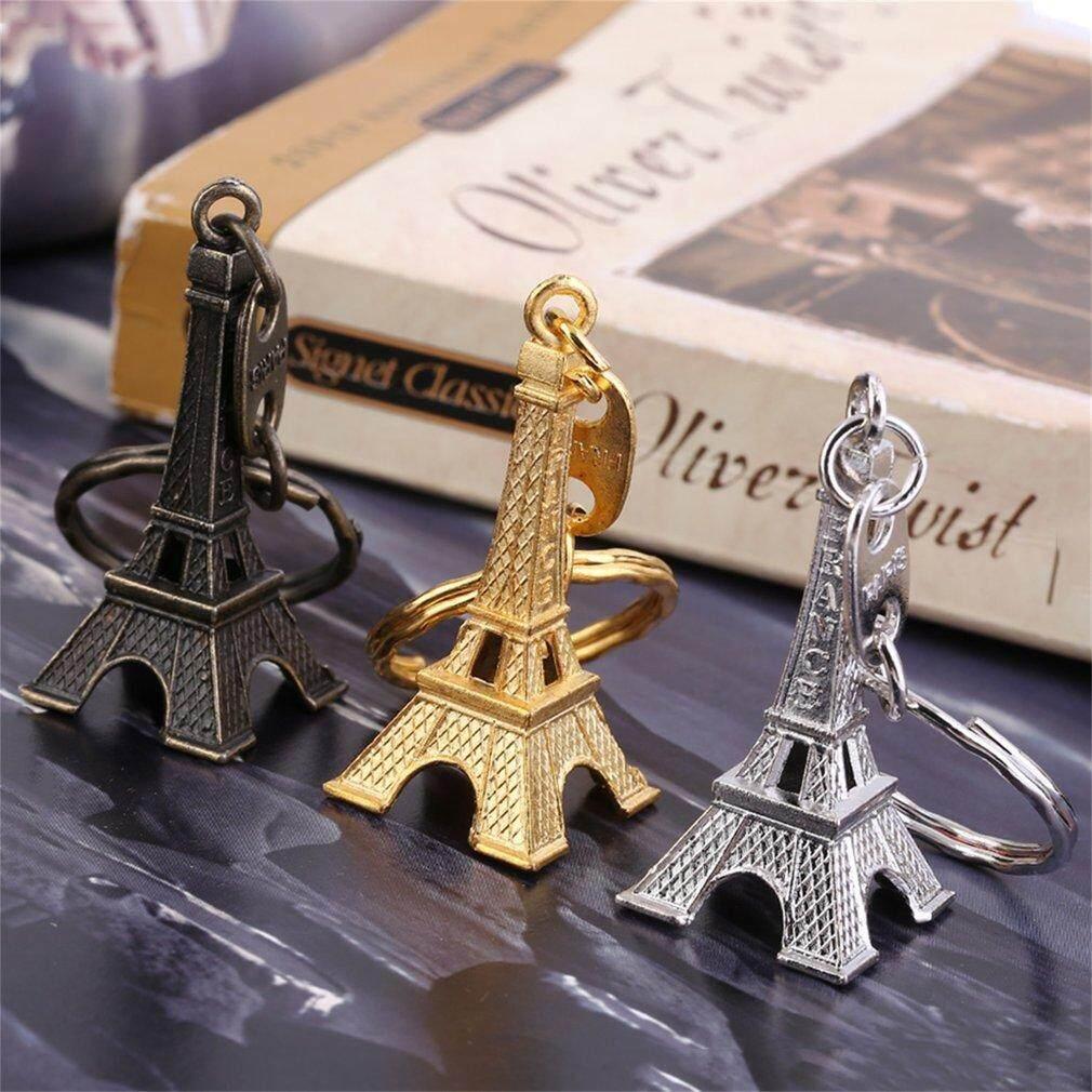 Catwalk Retro Mini Paris Model Menara Eiffel Gantungan Kunci Gantungan Kunci Logam Split Gantungan Kunci