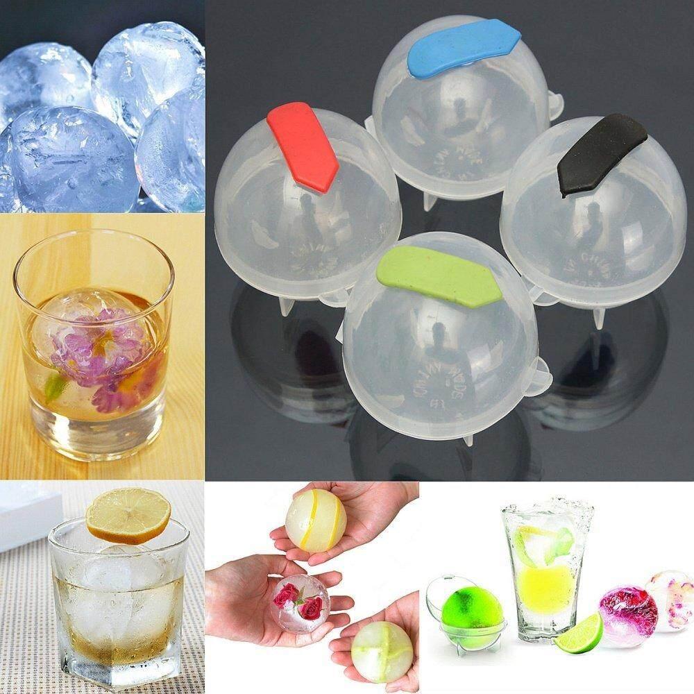 Hình ảnh Panda Online 4PCS Bar Whiskey Cocktails Ice Cube Round Ball Brick Tray Maker Mold Mould DIY Large