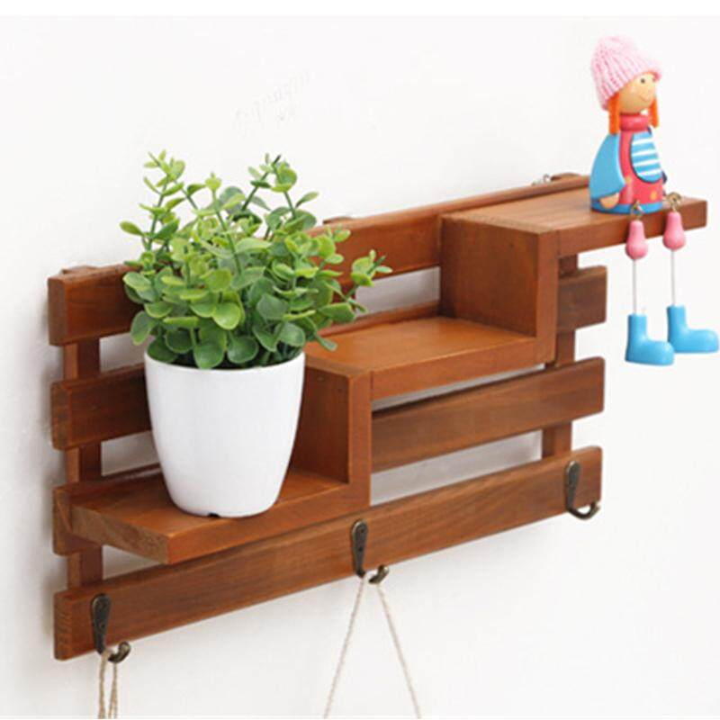 Creative Home Decoration Wall Decorated Wood Kitchen Shelves Wall Decoration Living Room Multi Storey Finishing Wall Decoration Wood Grain Color Intl Coupon Code