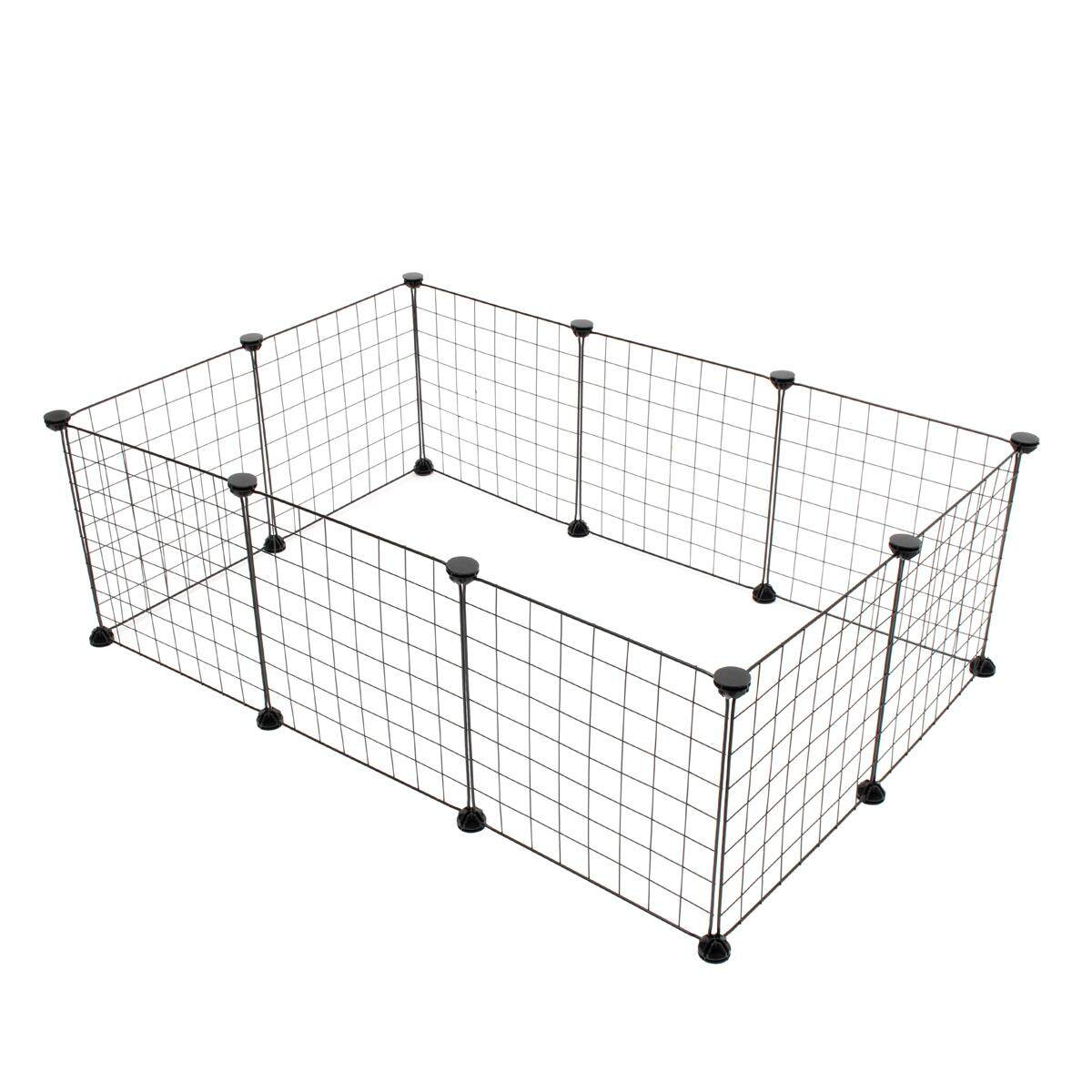 6/10 Panels Foldable Pet Puppy Playpen Crate Fence Kennel Exercise Animal Cage10 Panels - Intl By Audew.
