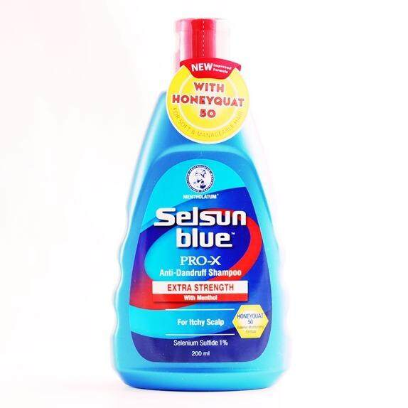 SELSUN BLUE MEDICATED WITH MENTHOL SHAMPOO 200ML (NEW CAP)