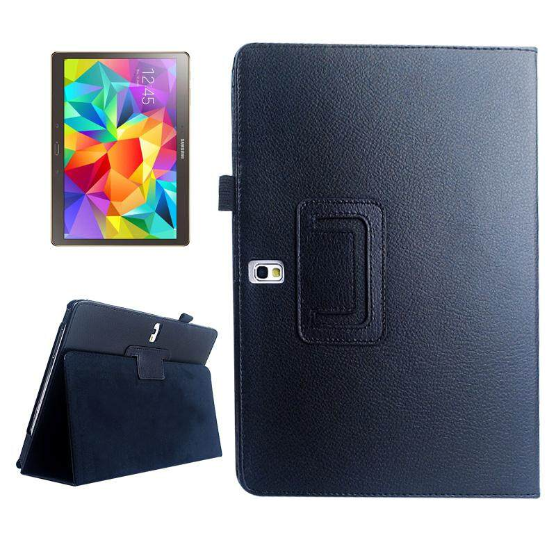 Wholesale Lichee Texture Horizontal Flip Leather Case With Holder For Samsung Galaxy Tab S 10 5 T800 Black Intl