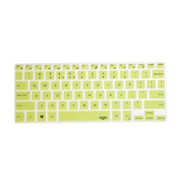 Leze - Ultra Thin Silicone Keyboard Skin Cover for Dell XPS 13 9343 9350 9360,Inspiron 13-7347 13-7348 13-7359 13-7352 7353 15-7547 15-7548 i7347 i7348 i7352 i7353 i7359 Series Laptop Semi - Green