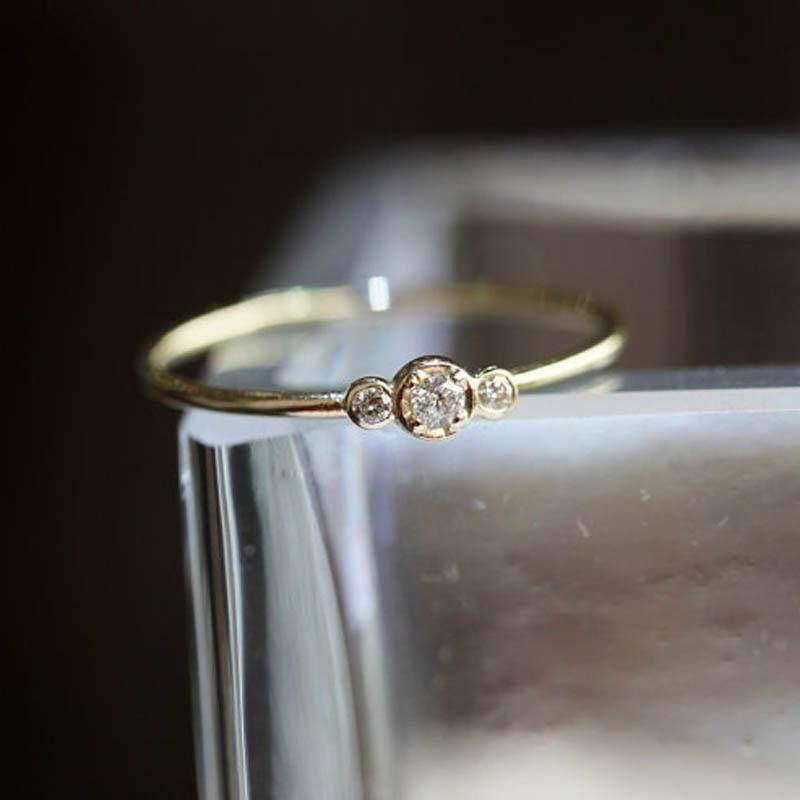 Wanita Kristal Anti Alergi Pernikahan Pertunangan Lingkaran-Internasional - 3