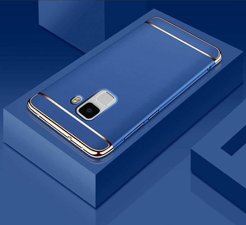 Galaxy A8 Plus 2018 Mewah Menyepuh Dgn Listrik Shockproof Kembali Casing Kover untuk Samsung Galaxy A8plus