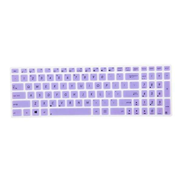 Leze - Ultra Thin Keyboard Skin Cover for ASUS UX501 K501UX F554LA F555LA F555UA F556UA R556LA X540SA X552 X555DA GL502VY GL502VS GL702VM GL702VS GL552VW GL752VW GL552JX Q504UA Q534UX Q524UQ - Purple