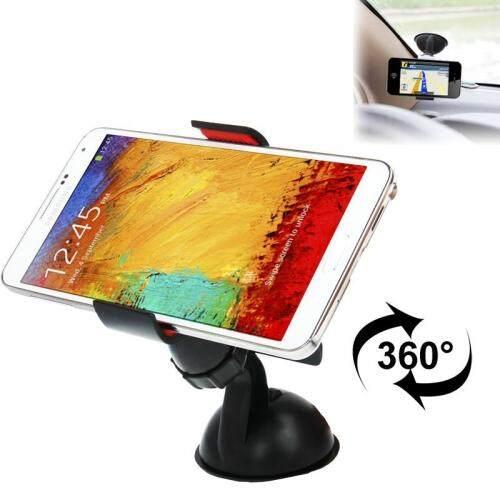 Universal 360 Derajat Rotasi Pengisap Cangkir Mobil Penahan, untuk iPhone, Galaksi, Huawei, Xiaomi, Google, sony dan Ponsel Pintar Lain (Hitam)-Internasional