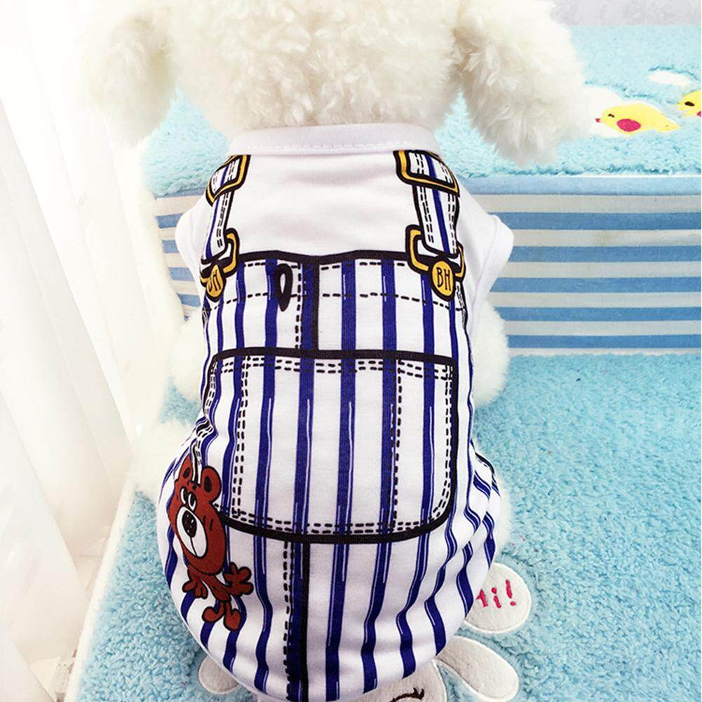 Pet Vest Dog Cat Apparel Clothes With Overalls Design For Spring & Summer 5 Sizes For Choice - Intl By Outop Store.