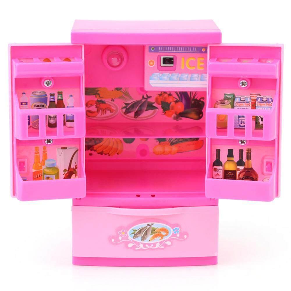 Hình ảnh Tủ Lạnh Mini Tủ Lạnh Trẻ Em Trẻ Vai Trò Chơi Giáo Dục Đồ Gia Dụng Đồ Chơi-quốc tế