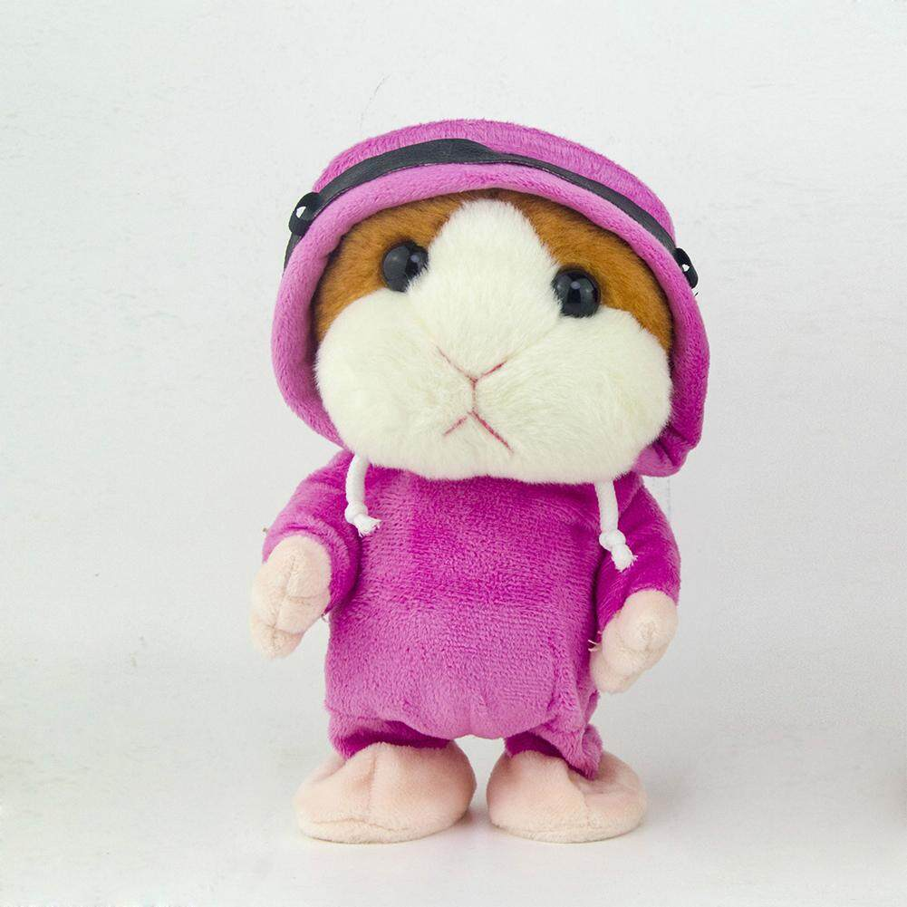 Wholesale Wonderful Toy Lovely Talking Plush Hamster Toy Record Sound Walk Doll Early Education Interest Cultivate Toy Style Pink Coat Brown Hair