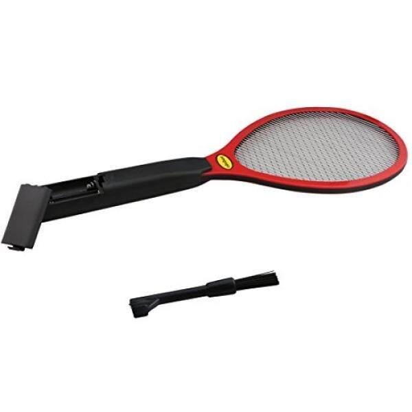 Omgogo Bug Listrik Zapper Terbang Swatter ZAP Mosap Zapper, 2 Kawat Lapis Bersih dengan Sikat Terbaik untuk Pengendalian Hama Dalam dan Luar Ruangan Merah-Internasional