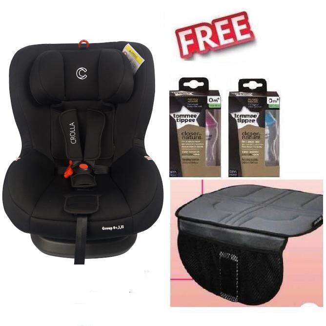 Crolla S SPIN Two Tone Black Free 2 x Tommee Tippee Bottle 1 x Seat Protector