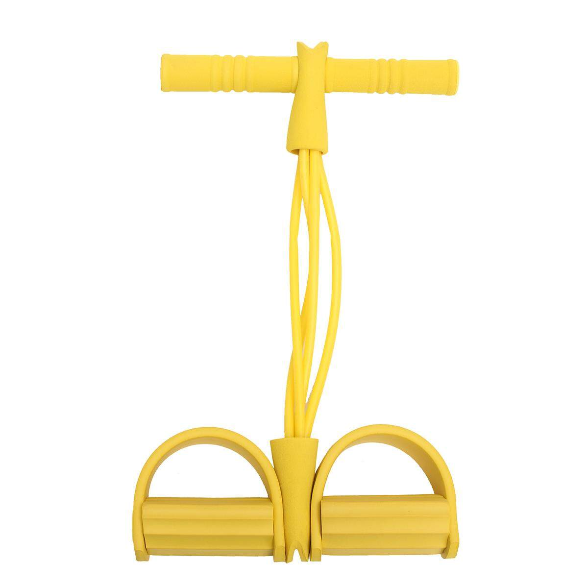 4 Tube Body Tummy Action Rower Abdominal Exercise Fitness Equipment Workout Tool Yellow By Glimmer.