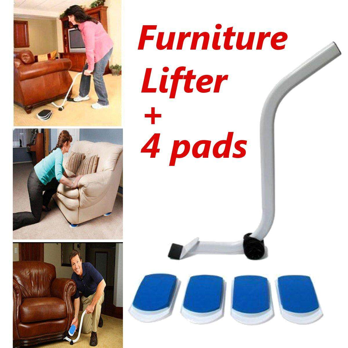 Furniture Lifter Moves with 4 Mobile Pads Sliders Kit Home Moving Lifting System