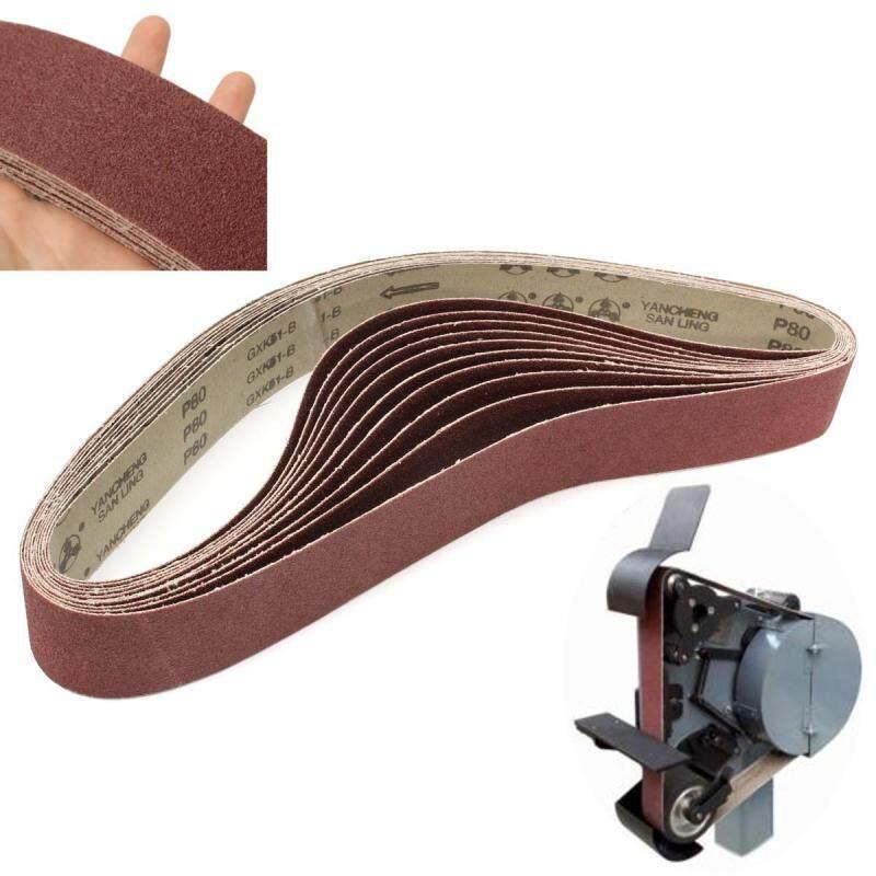 80 Grit 2 x 42 10 Packs of Air Sander Sanding Belts Metal Working Sharpening - intl