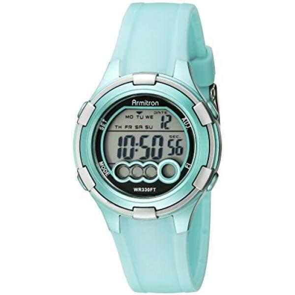 Armitron Sport Womens 45/7053LTG Digital Light Green Resin Strap Watch - intl