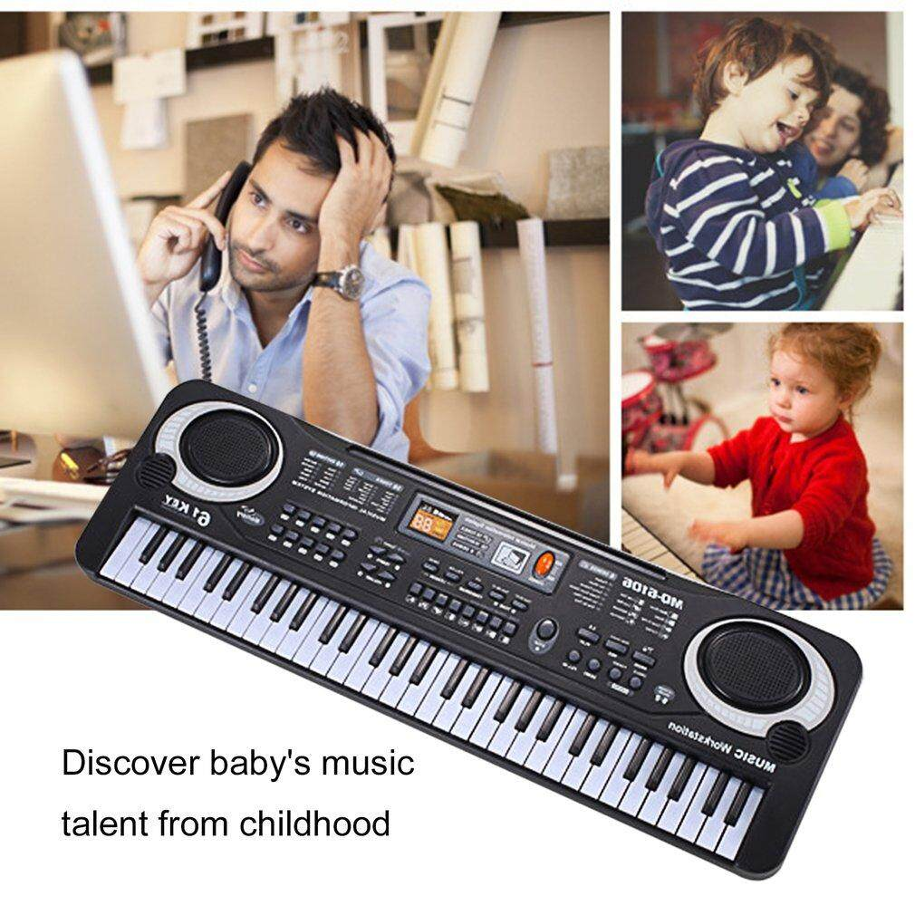 Discount Gift 61 Keys Electronic Piano Keyboard With Microphone Children Musical Instrument Intl Goft
