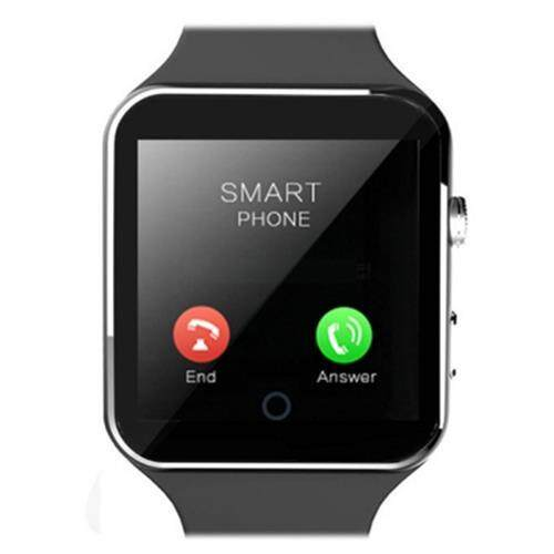 X6S 1.54 INCH SMARTWATCH PHONE MTK6260 PEDOMETER SLEEP MONITORING SEDENTARY REMINDER REMOTE CAMERA (BLACK)