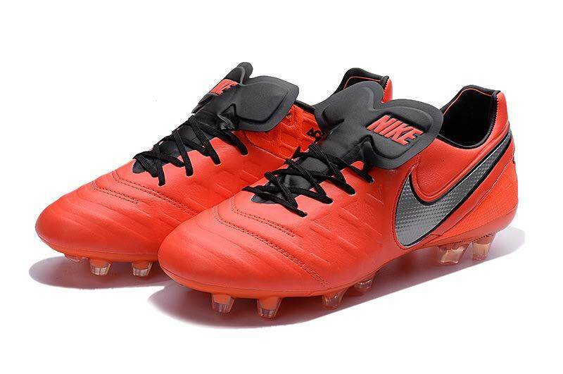 Timed Promotions Lace-up Football Shoes Tiempo.Legend VI 6th FG Soccer Mens Size 39-45 Outdoor Football Sneakers (Red/Black/Silver) - intl