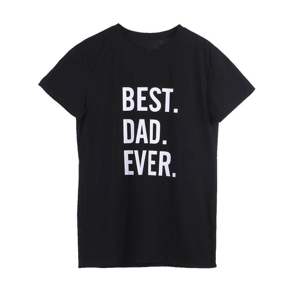 Dad & Baby T-shirts Family Short Sleeve Clothes Tee Tops Family Matching Outfits (Dad)