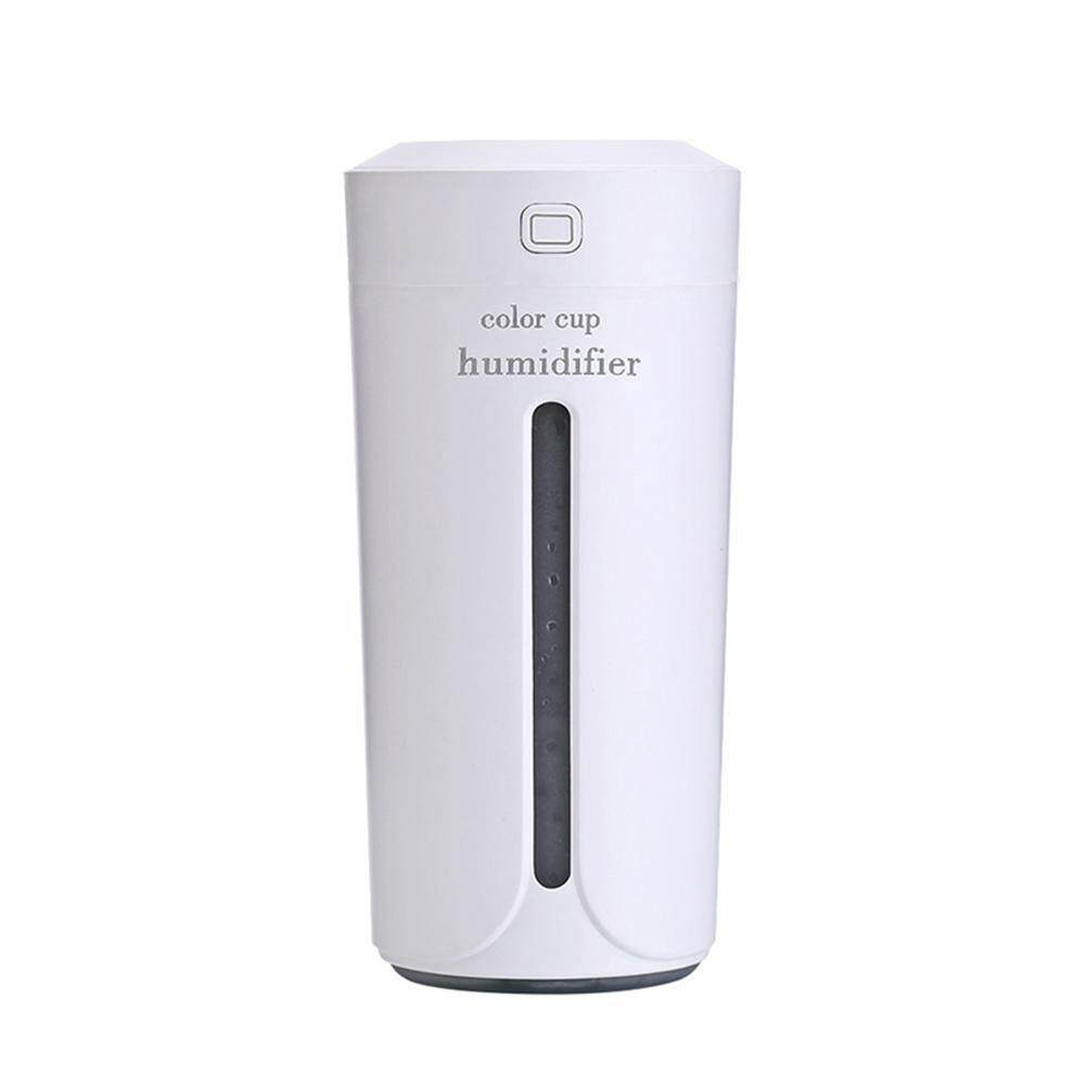 Ultrasonic Light Cup Aroma Humidifier Air Diffuser Purifier Atomizer(White)
