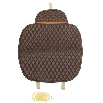 Universal Car Front Seat Cover Breathable Mat Cushion Chair Protector Coffee - intl