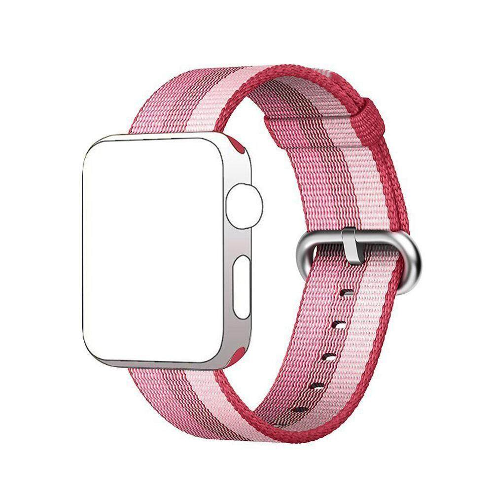 Nylon Woven Apple Watch Strap 42mm Replacement Sports Band With Buckle Connector For I-Watch