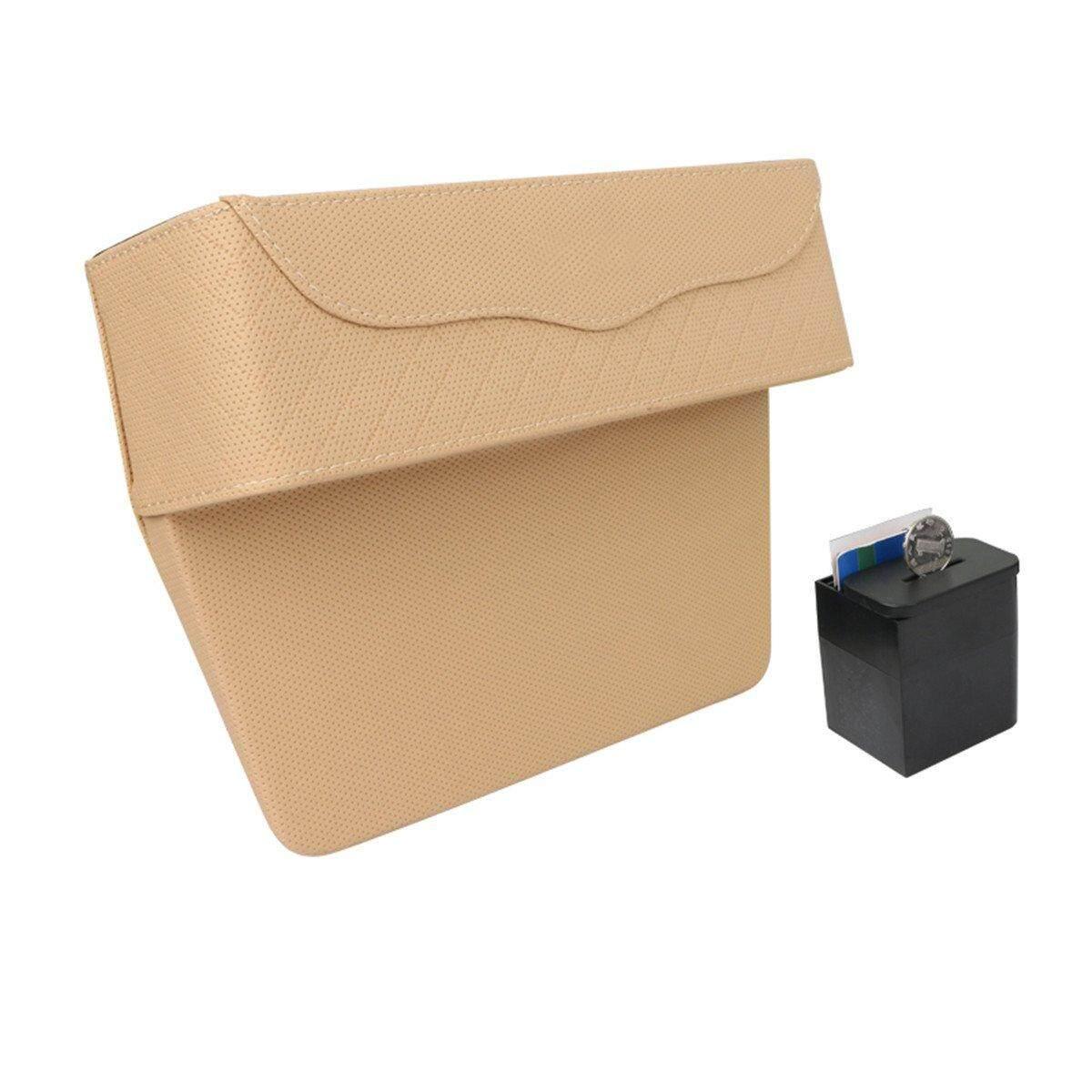 PU Leather Car Seat Gap Storage Box Money Pot Grain Organizer Gap Slit filler Phone Holder